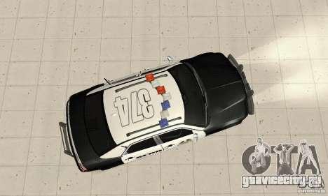 Chrysler 300C Police v2.0 для GTA San Andreas вид справа