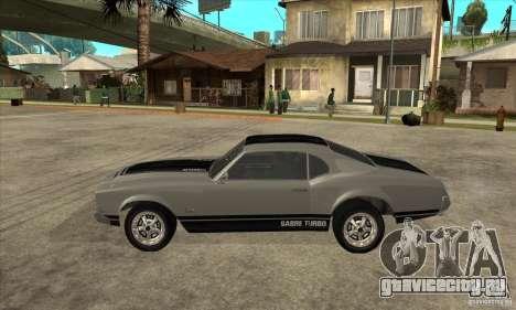Sabre из GTA 4 для GTA San Andreas вид слева