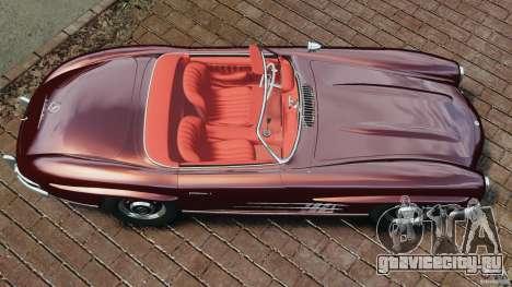 Mercedes-Benz 300 SL Roadster v1.0 для GTA 4 вид справа