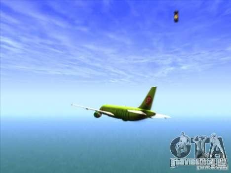 Airbus A-320 S7Airlines для GTA San Andreas вид сбоку
