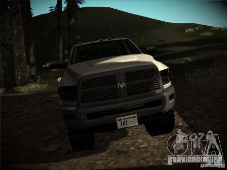 Dodge Ram 3500 4X4 для GTA San Andreas вид сзади