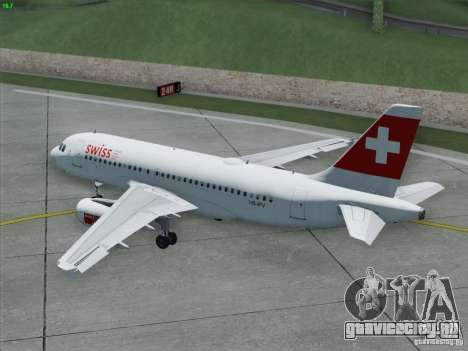 Airbus A319-112 Swiss International Air Lines для GTA San Andreas вид сверху