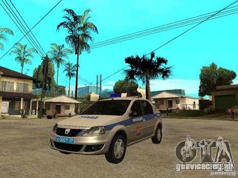 Dacia Logan Police для GTA San Andreas