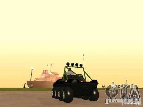 Вездеход Argo Avenger для GTA San Andreas вид сзади слева