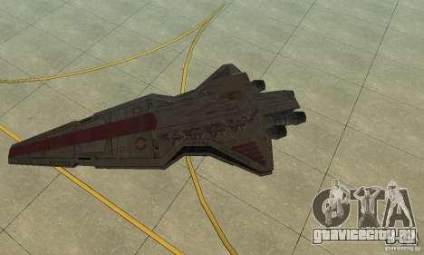 Republic Attack Cruiser Venator class v3 для GTA San Andreas вид слева