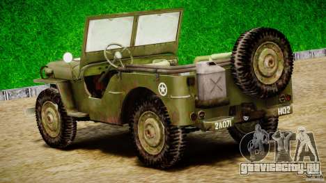 Jeep Willys [Final] для GTA 4 вид сверху