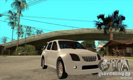 Suzuki Ignis Rally для GTA San Andreas вид сзади