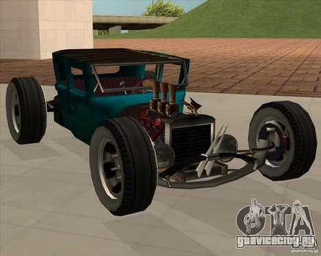 Ford model T 1925 ratrod для GTA San Andreas вид сзади слева