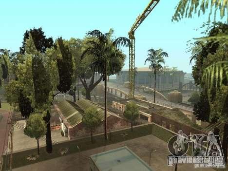 Автосервис около Groove v1.5 для GTA San Andreas четвёртый скриншот