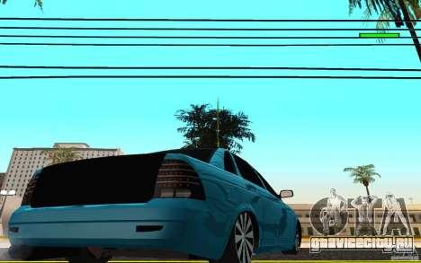 ВАЗ 2170 Пенза тюнинг для GTA San Andreas вид сзади слева
