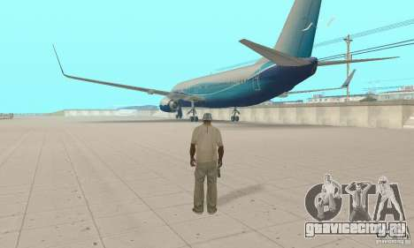 Boeing 737-800 для GTA San Andreas вид слева