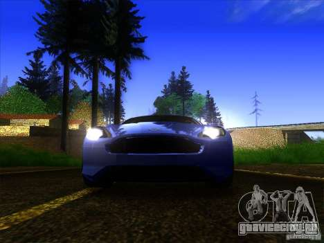 Aston Martin Virage 2011 Final для GTA San Andreas вид сверху