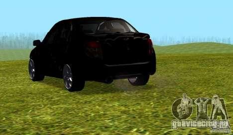 Лада Гранта v2.0 для GTA San Andreas вид сзади слева