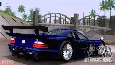 Mercedes-Benz CLK GTR Road Carbon Spoiler для GTA San Andreas вид слева