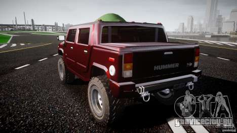 Hummer H2 4x4 OffRoad v.2.0 для GTA 4 вид сзади слева