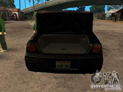 Chevrolet Impala Undercover для GTA San Andreas вид сзади