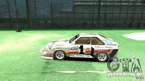 Audi Quattro Group B для GTA 4 вид слева