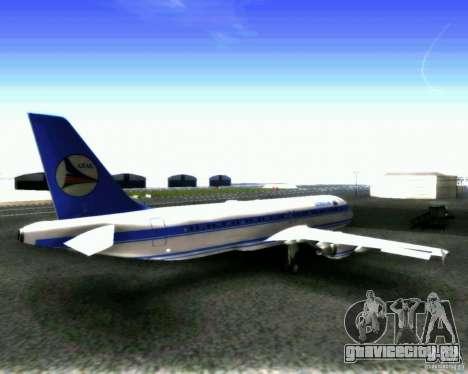 Airbus A-320 Azerbaijan Airlines для GTA San Andreas вид справа