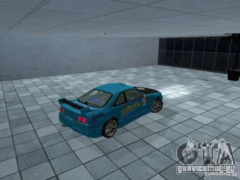 Nissan Skyline R 33 GT-R для GTA San Andreas вид сзади слева