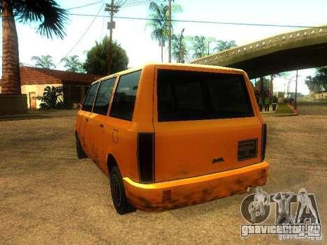 Taxi Moonbeam для GTA San Andreas вид сзади слева