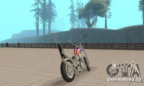Captain America Chopper для GTA San Andreas вид слева