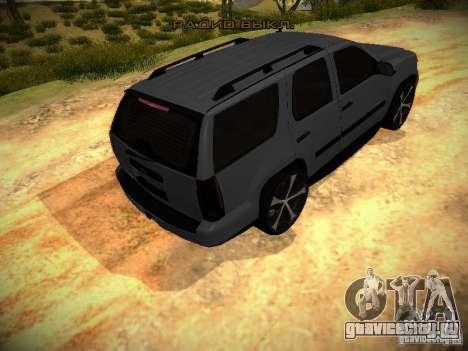 Chevrolet Tahoe HD Rimz для GTA San Andreas вид сзади