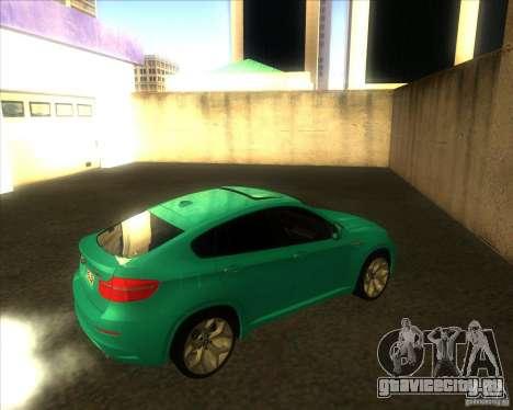BMW X6M для GTA San Andreas вид сзади слева