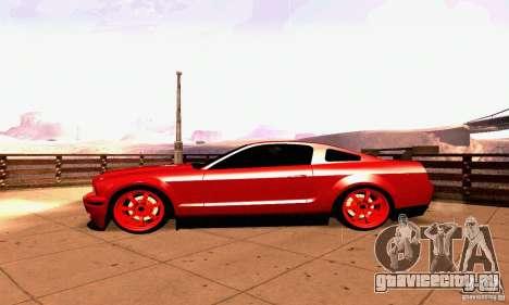 Shelby GT500 KR для GTA San Andreas вид изнутри