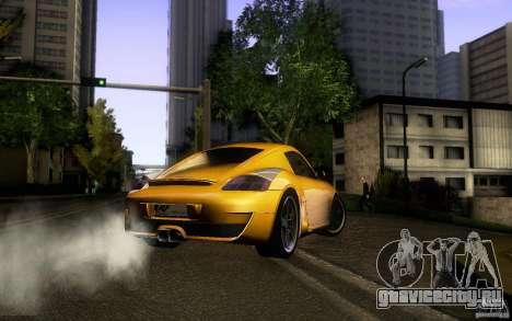 Ruf RK Coupe V1.0 2006 для GTA San Andreas вид изнутри