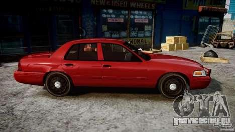 Ford Crown Victoria Detective v4.7 red lights для GTA 4 вид сзади