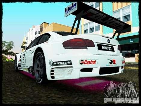 BMW M3 GT2 для GTA Vice City вид справа