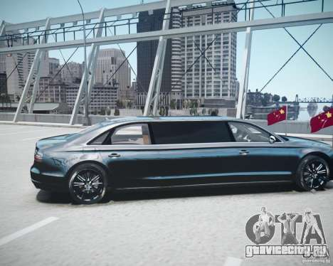 Audi A8 Limo для GTA 4 вид сзади