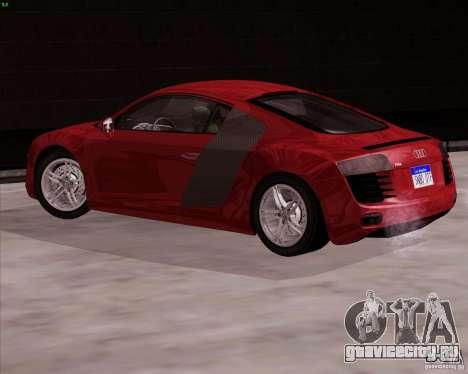 Audi R8 Production для GTA San Andreas вид слева