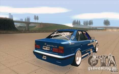 BMW E34 V8 для GTA San Andreas вид сбоку