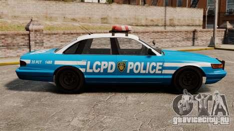 Vapid Police Cruiser ELS для GTA 4 вид слева