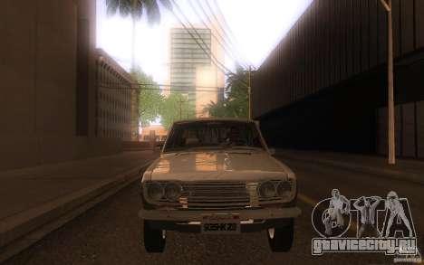 Datsun 510 4doors для GTA San Andreas вид изнутри