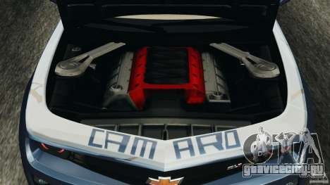 Chevrolet Camaro ZL1 2012 v1.0 Smoke Stripe для GTA 4 вид сверху