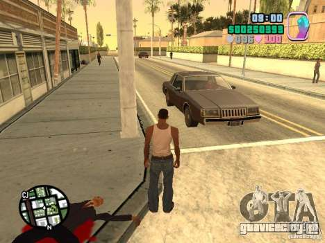 Vice City Hud для GTA San Andreas третий скриншот