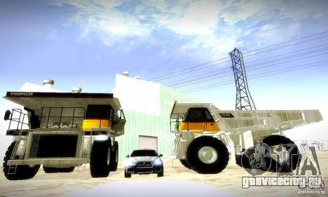 Caterpillar 777D для GTA San Andreas вид слева