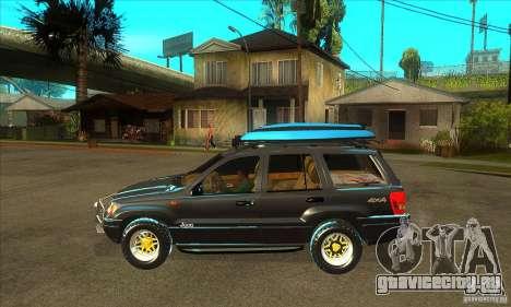 Jeep Grand Cherokee 2005 для GTA San Andreas вид слева