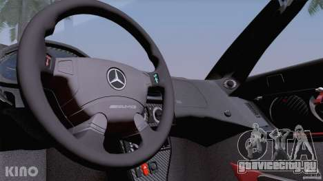 Mercedes-Benz CLK GTR Road Carbon Spoiler для GTA San Andreas салон