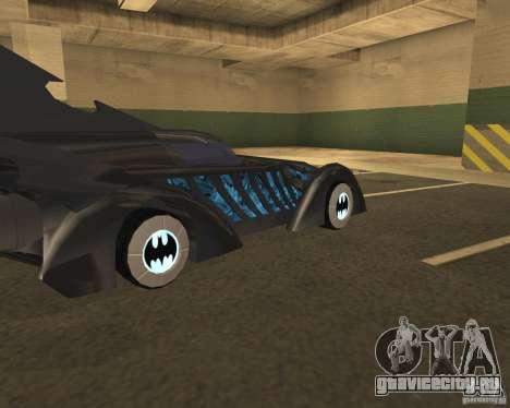 Бэтмобиль для GTA San Andreas вид сзади слева