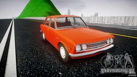 Datsun Bluebird 510 Sedan 1970 для GTA 4 вид изнутри