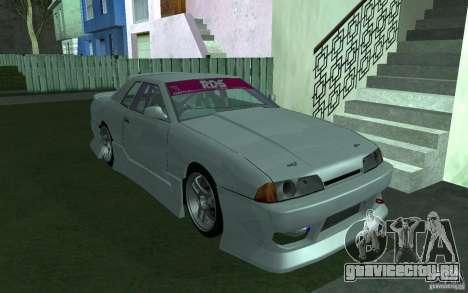 Elegy MS R32 для GTA San Andreas вид изнутри