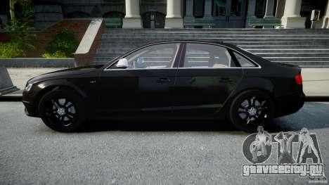 Audi S4 Unmarked [ELS] для GTA 4 вид слева