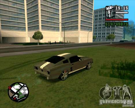 Ford Mustang 67 HotRot для GTA San Andreas вид сзади слева