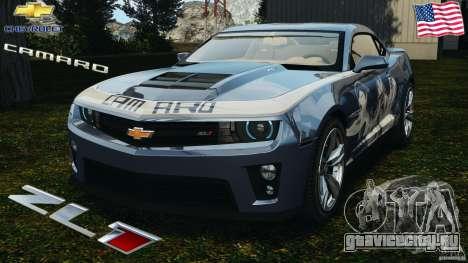 Chevrolet Camaro ZL1 2012 v1.0 Smoke Stripe для GTA 4