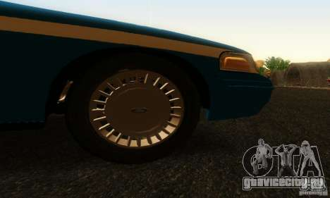 Ford Crown Victoria Wisconsin Police для GTA San Andreas вид справа
