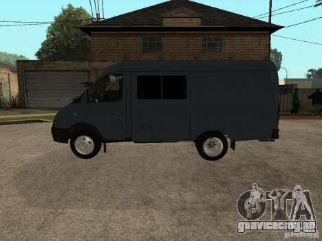 ГАЗель 2705 Бизнес для GTA San Andreas вид сзади слева