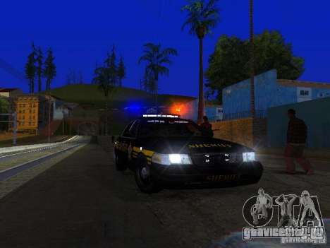 Ford Crown Victoria Erie County Sheriffs Office для GTA San Andreas салон